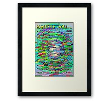 Positive Dictionary - English : Color 2 Framed Print