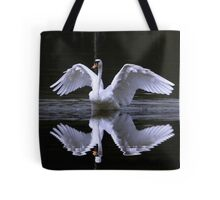 Swan and Reflection Tote Bag