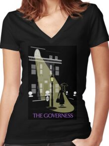 The Governess at No. 17  Women's Fitted V-Neck T-Shirt