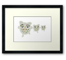 Eco Friendly Owl Family Hootenanny Framed Print