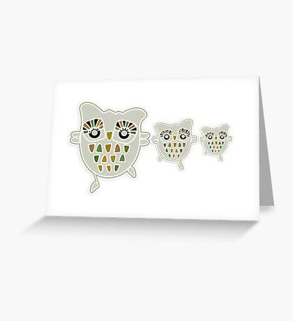 Eco Friendly Owl Family Hootenanny Greeting Card