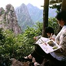 Watercolour landscape, China by John Spies