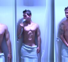 Guy in the shower Sticker