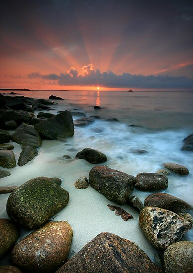 Cornwall : Sennen Sunset by Angie Latham