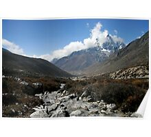 Dingboche below Tawoche Poster