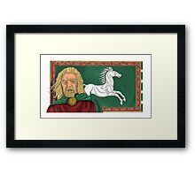 King Theoden Framed Print