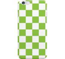 Green Checkerboard iPhone Case/Skin
