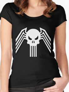 Symbiote Punisher Women's Fitted Scoop T-Shirt