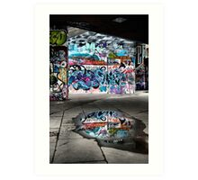 London Southbank Skate Graffiti Art Print