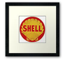 Shell retro Framed Print