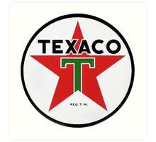 Texaco retro Art Print