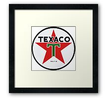 Texaco retro Framed Print