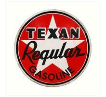 Texan Gasoline Art Print