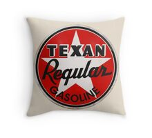 Texan Gasoline Throw Pillow