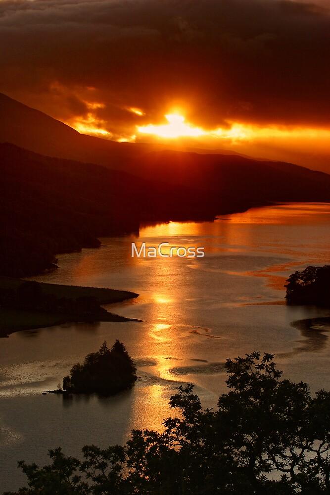 Queens View Sunset, Scotland by Martina Cross