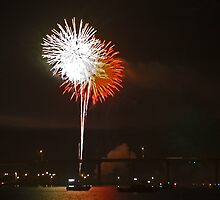 Riverside fireworks by Larry  Grayam