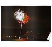 Riverside fireworks Poster