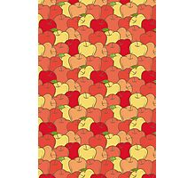 Red and Yellow Apple Seamless Pattern Photographic Print