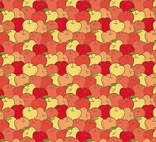 Red and Yellow Apple Seamless Pattern by deepfuze