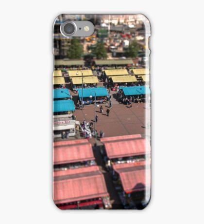 Leeds Market - Tilt Shift Effect (View Large) iPhone Case/Skin