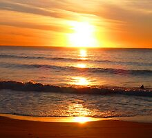 Sunrise over Warriewood Beach by coastal