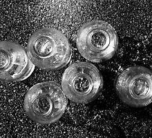 Six milk bottles by Mark  Coward