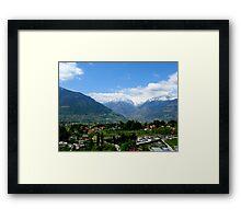 Huge Mountains Framed Print