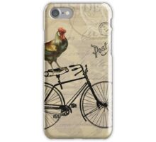 A Rooster in Paris iPhone Case/Skin