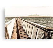 Fishing from the Ocean Pier Canvas Print