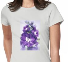 Delphinium Magic Fountains Womens Fitted T-Shirt