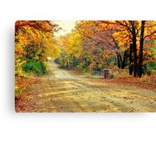 Color Book Road  Canvas Print