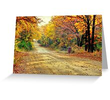 Color Book Road  Greeting Card