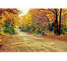 Color Book Road  Photographic Print