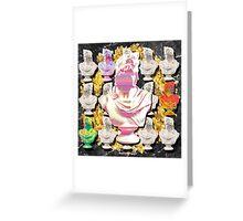glitch statue Greeting Card