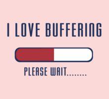 Buffering Please Wait T-shirt - Application File Loading One Piece - Short Sleeve