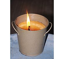 Candle Burning Photographic Print