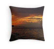 Ontario Beach Sunset Throw Pillow