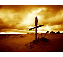 Dramatic evening in the dunes Photographic Print