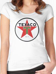 Texaco retro Women's Fitted Scoop T-Shirt