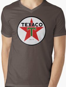 Texaco retro Mens V-Neck T-Shirt