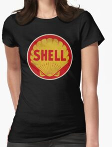 Shell retro Womens Fitted T-Shirt