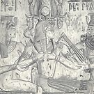 Pharoah Seti Blessed By Two Goddesses by Jedro