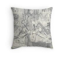 Pharoah Seti Blessed By Two Goddesses Throw Pillow