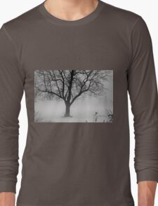January Foggy Day - Black and White Long Sleeve T-Shirt