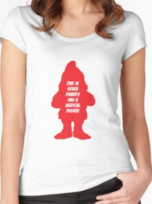 1 in 7 dwarfs has a medical degree Women's Fitted Scoop T-Shirt