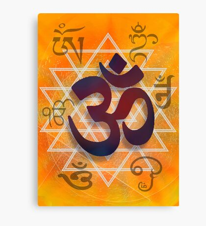 Many Faces of Om Canvas Print