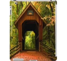 Covered Bridge,Little Hope Wisconsin  iPad Case/Skin