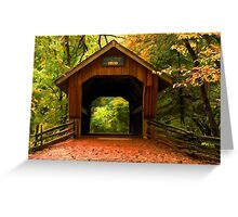 Covered Bridge,Little Hope Wisconsin  Greeting Card
