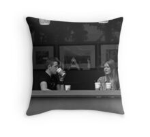 Cafe Solo Throw Pillow