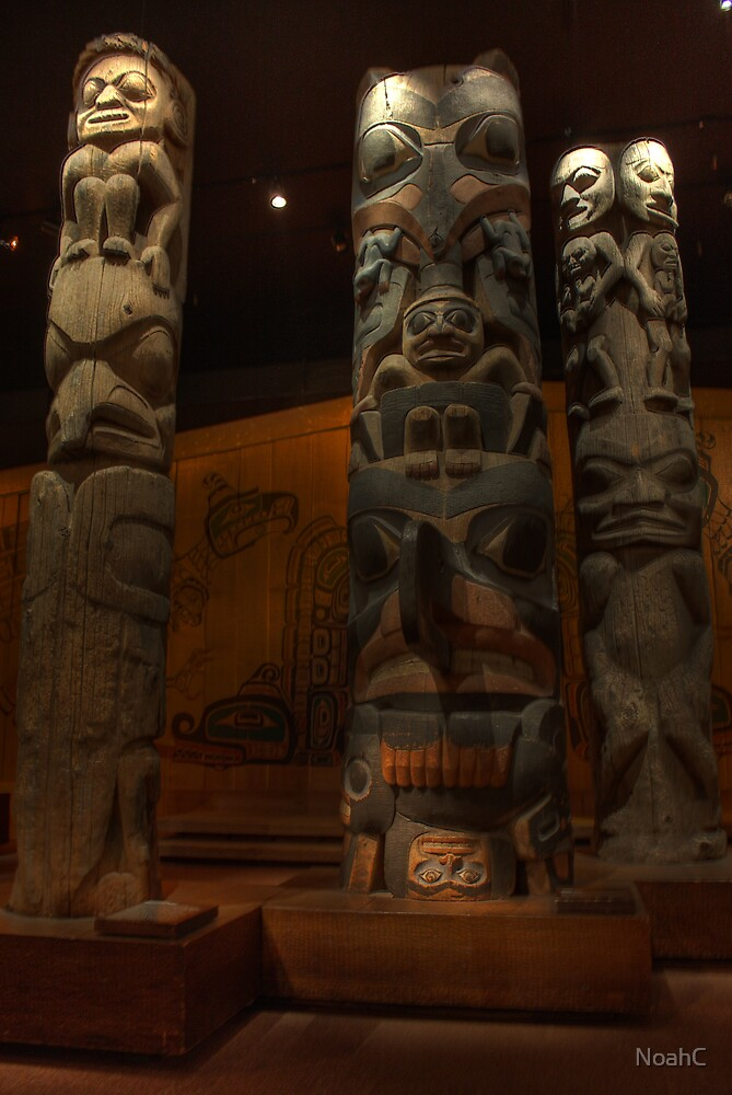 Totem poles at the Royal british museum by NoahC